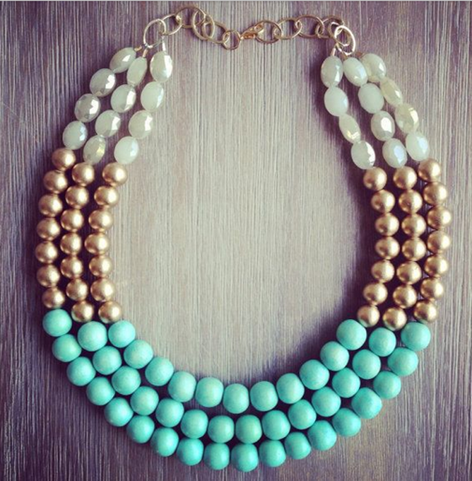 Mint gold and crystal statement necklace.png