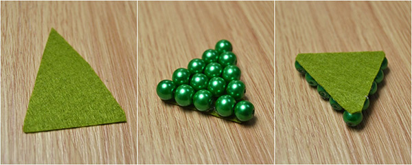 How-to-Make-a-Christmas-Tree-Hair-Clip-with-Beads-and-Ribbon-step-1
