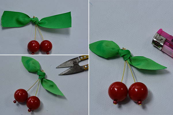 Pandahall Tutorial How Do You Make a Cherry Brooch at Home 6004003