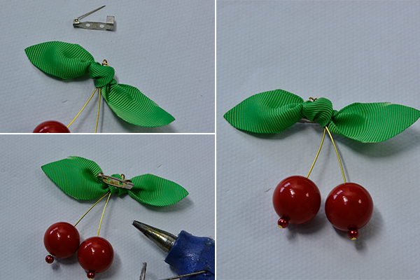 Pandahall Tutorial How Do You Make a Cherry Brooch at Home 6004004