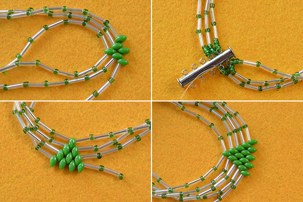 tutorial-on-how-to-make-bulge-beads-bracelet-with-green-2-hole-seed-beads8